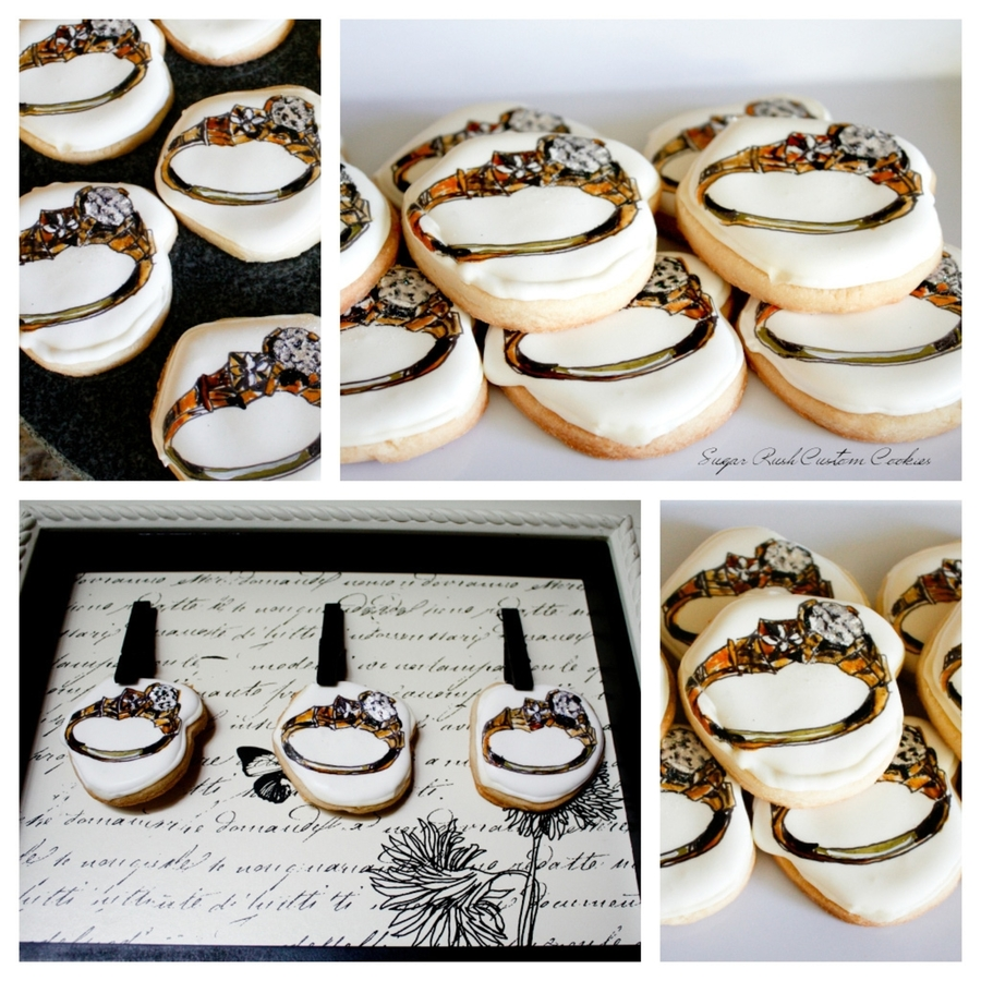 Engagement Ring Cookies on Cake Central