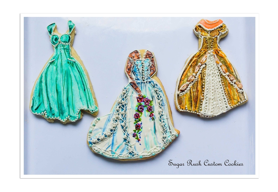 Vintage Dress Cookies on Cake Central