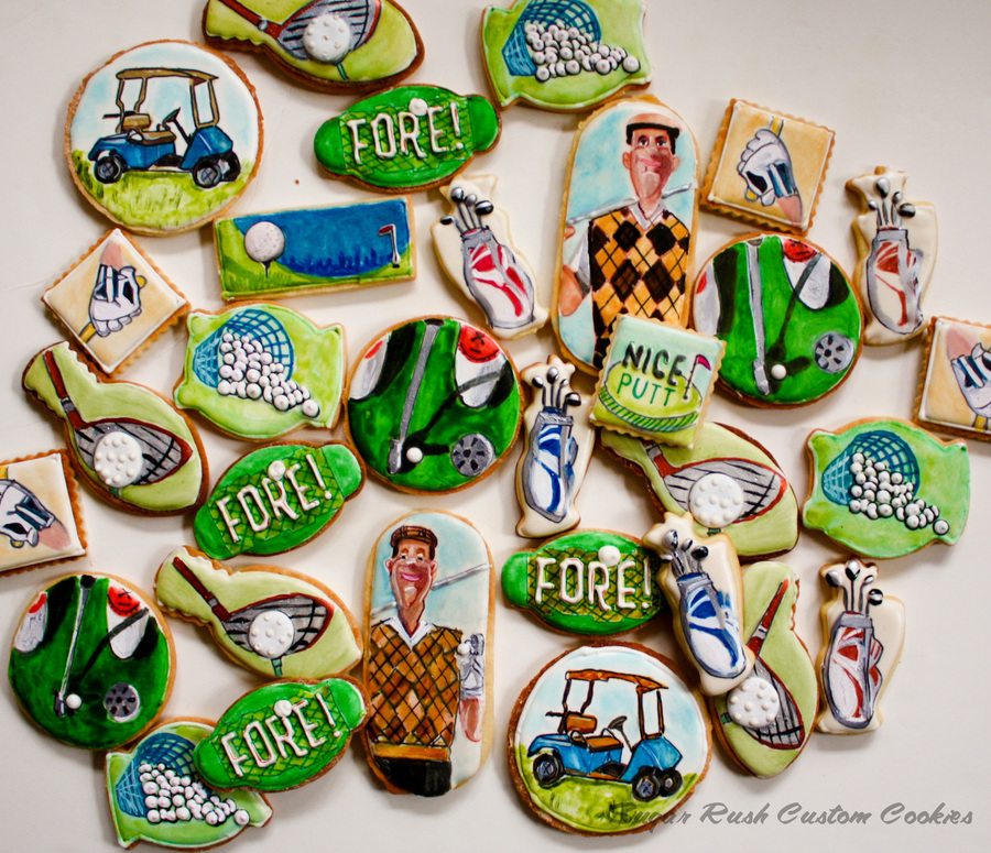Golf Themed Cookies  on Cake Central