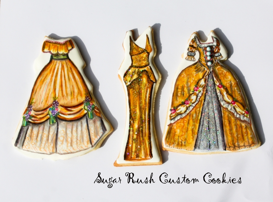 Royal Icing Princess Dresses on Cake Central