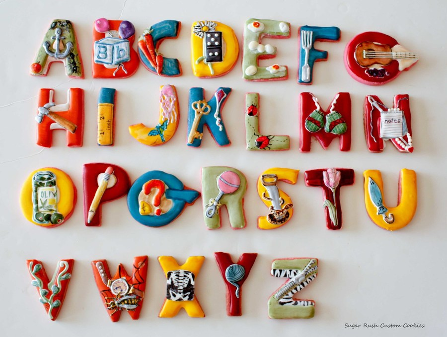 Alphabet Cookies  on Cake Central