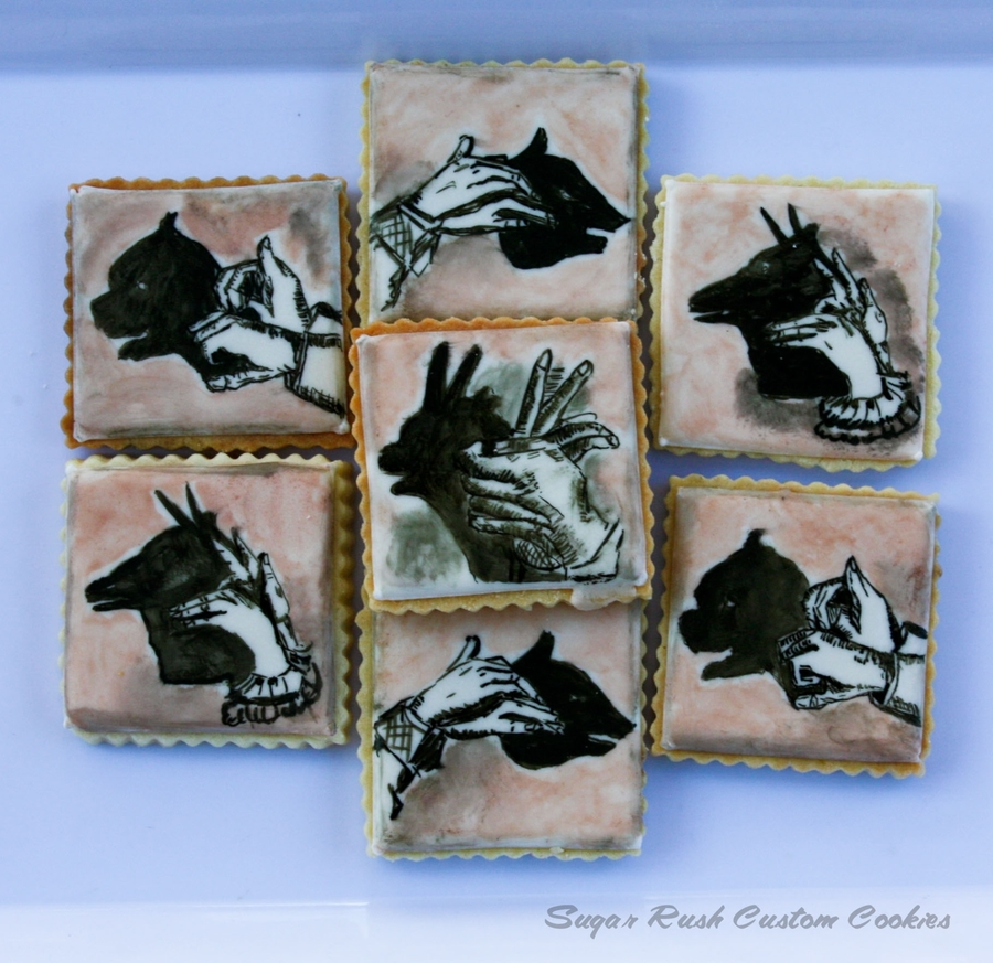 Hand Shadow Cookies on Cake Central