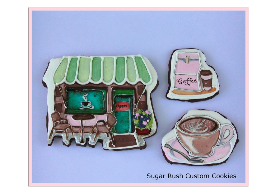 Coffee Shop Themed Cookies  on Cake Central