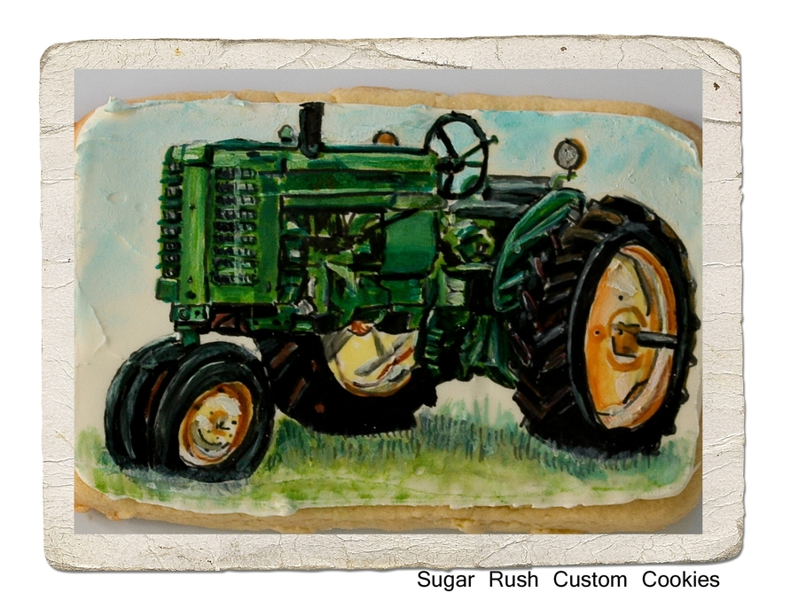 John Deere Tractor Cookie on Cake Central