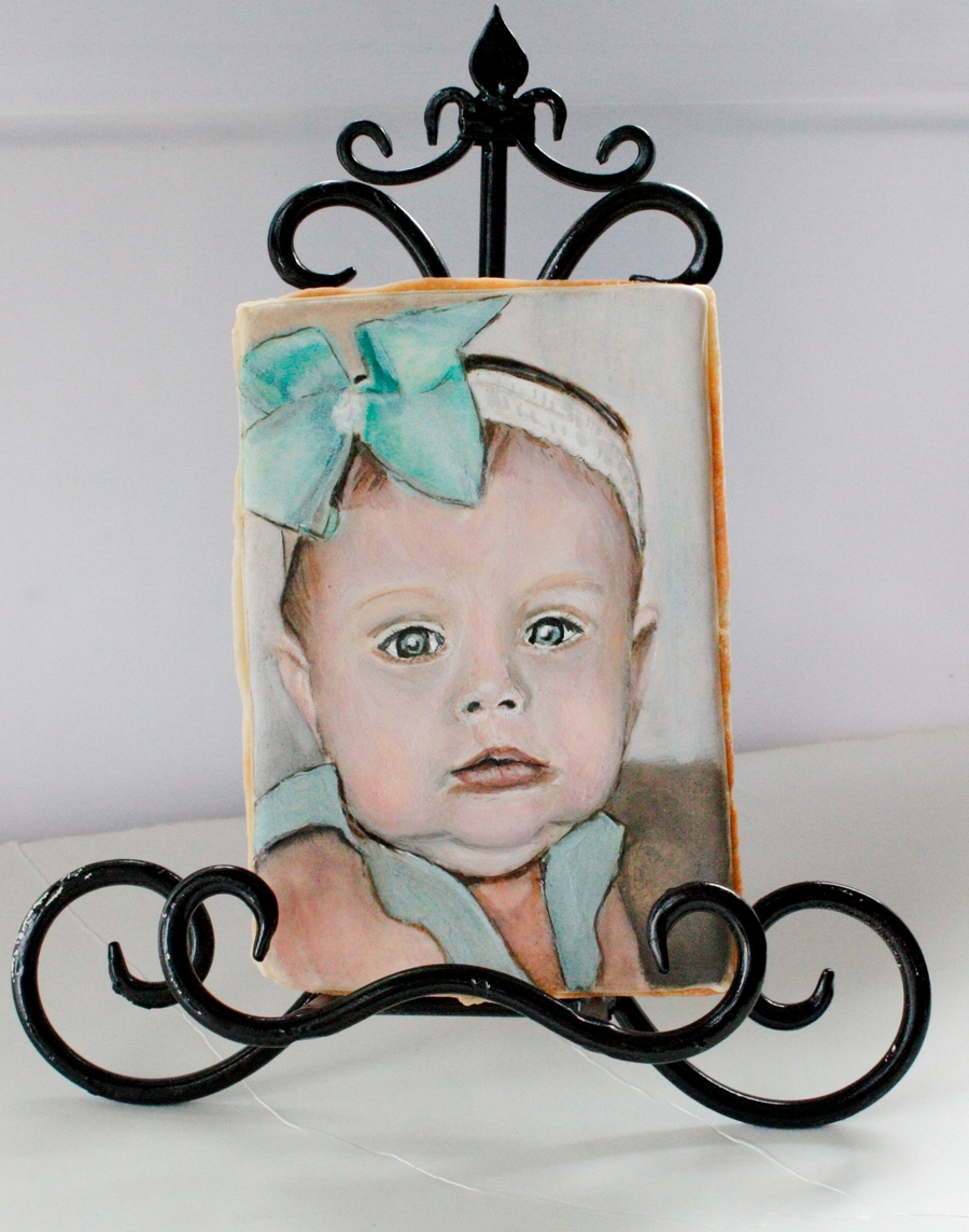 Custom Baby Portrait Cookie on Cake Central