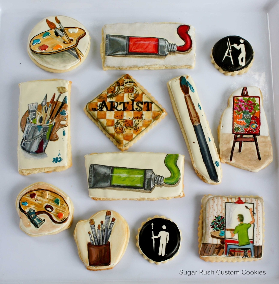 Artist Themed Cookies on Cake Central