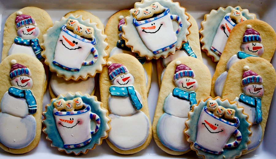 Snowman Christmas Cookies on Cake Central