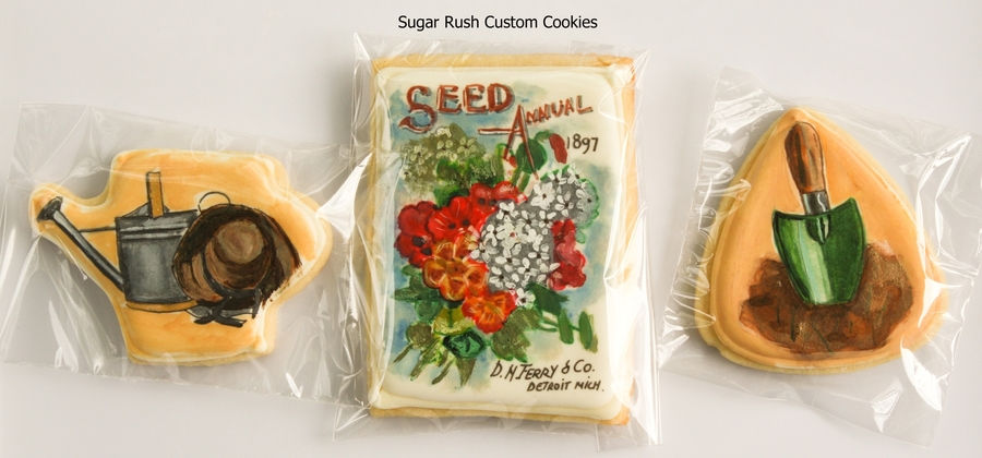 Gardening Themed Cookies on Cake Central