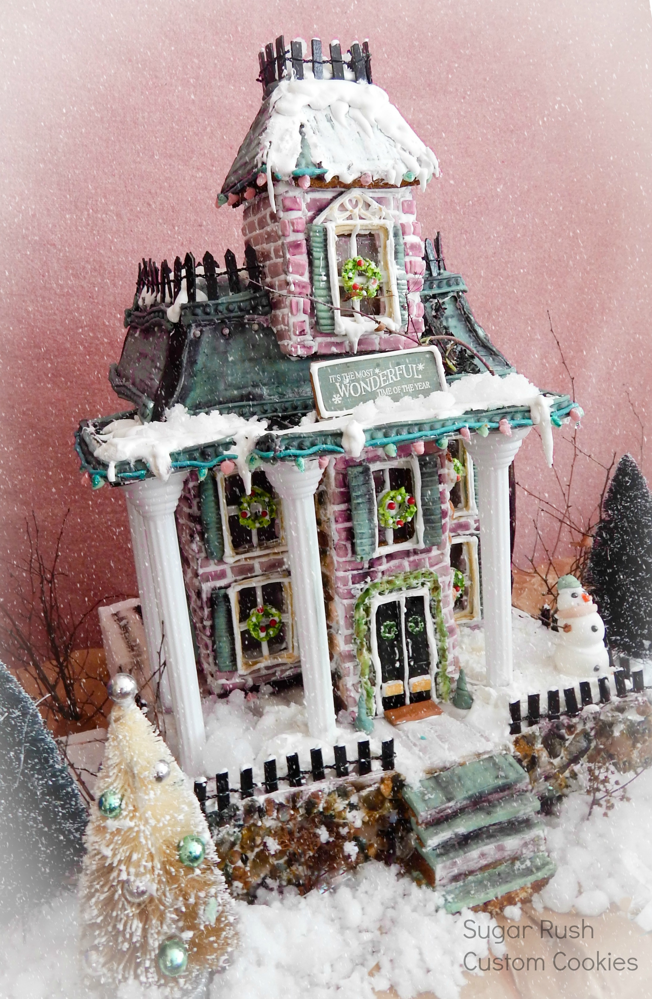 Victorian Gingerbread House on Cake Central