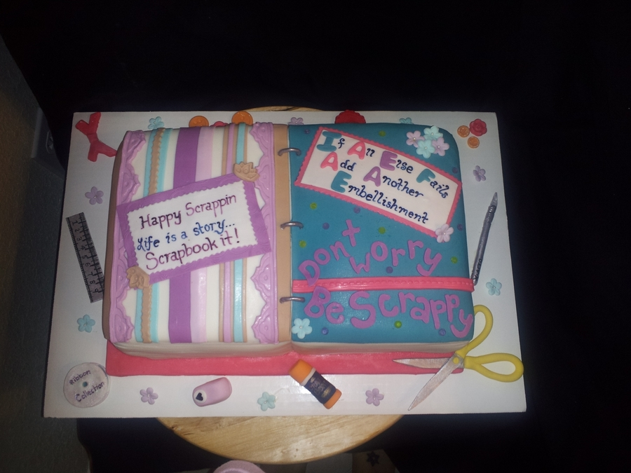 Scrapbook Cake on Cake Central