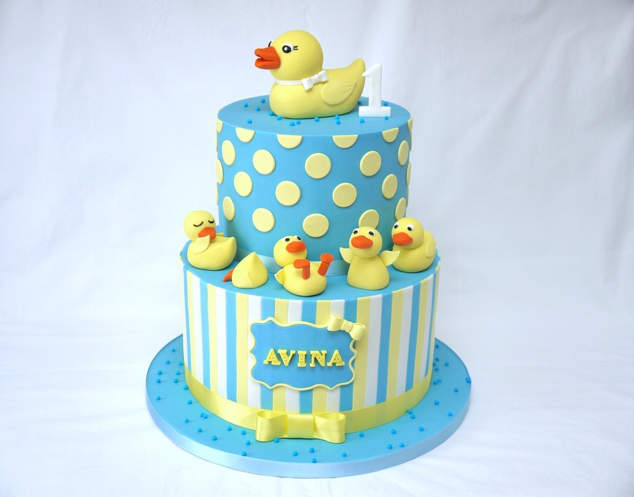 5 Little Ducks First Birthday Cake For Little Avina