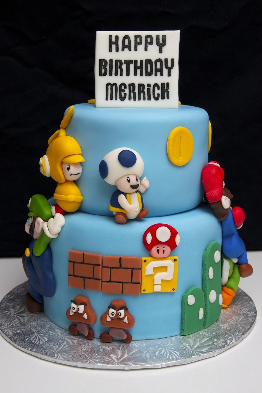 Birthday Cake Mario Bros