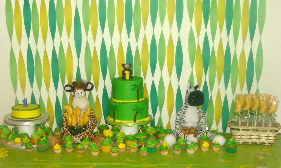 First Birthday Party Jungle Themed Cakecentral Com