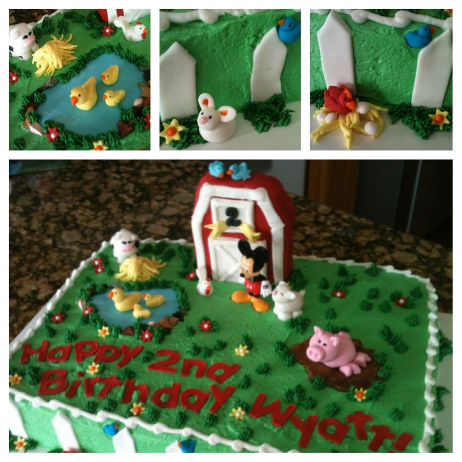 Mickey's Farm on Cake Central