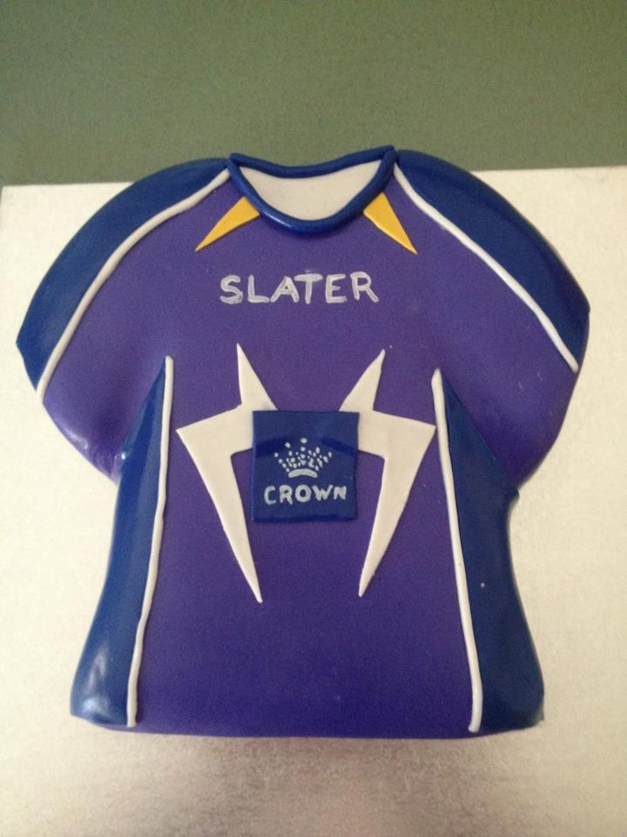 Melbourne Storm Nrl Football Jersey  on Cake Central