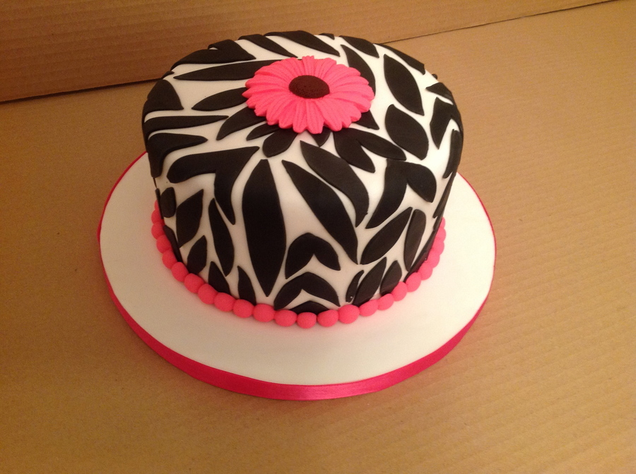Hot Pink Zebra on Cake Central