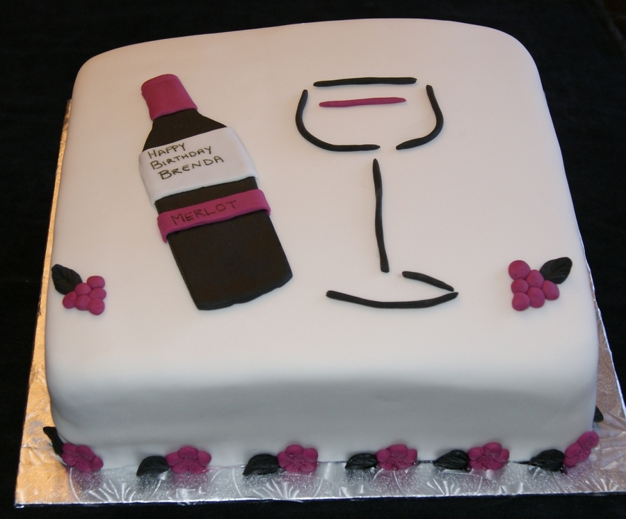 wine birthday cake Wine Birthday Cake   CakeCentral.com wine birthday cake