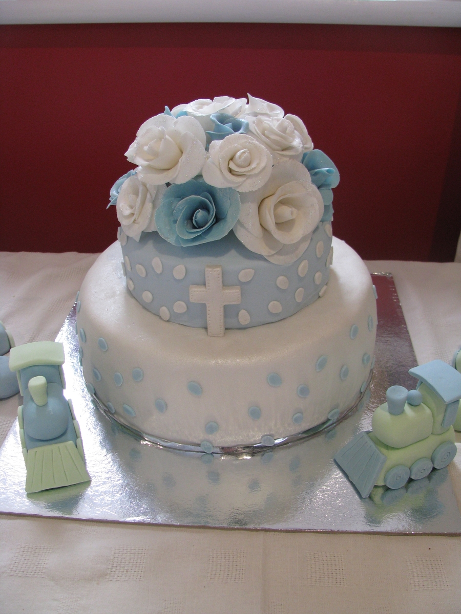 Christening Cake Designs For Twins : Twin Boys Christening Cake - CakeCentral.com