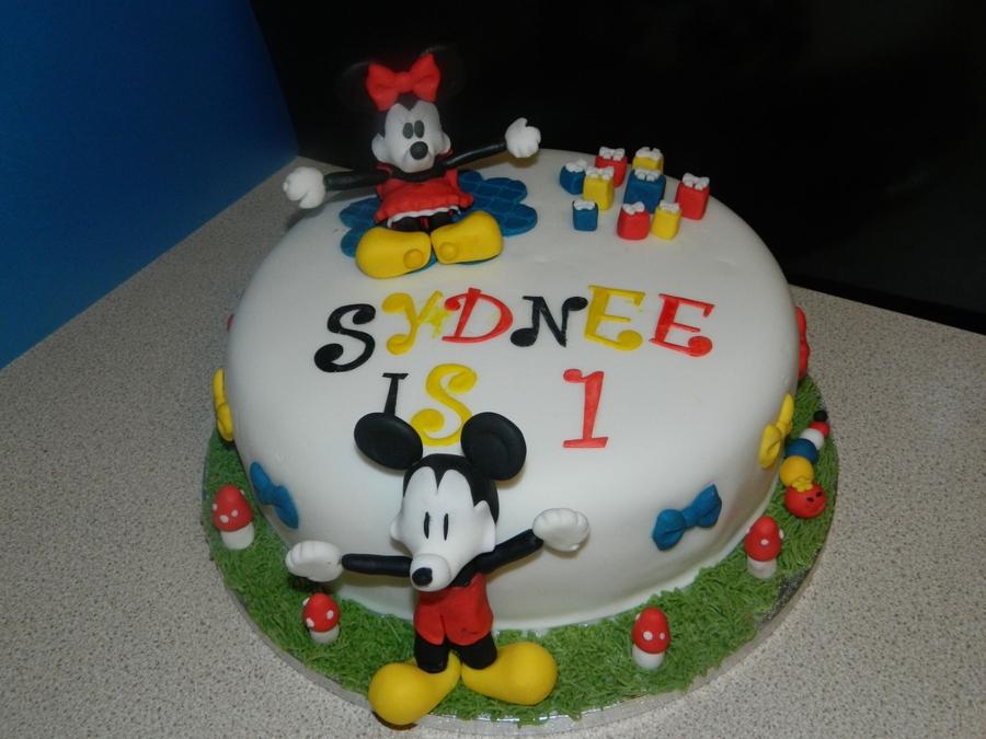 Excellent Mickey And Minnie Birthday Cake Cakecentral Com Funny Birthday Cards Online Alyptdamsfinfo