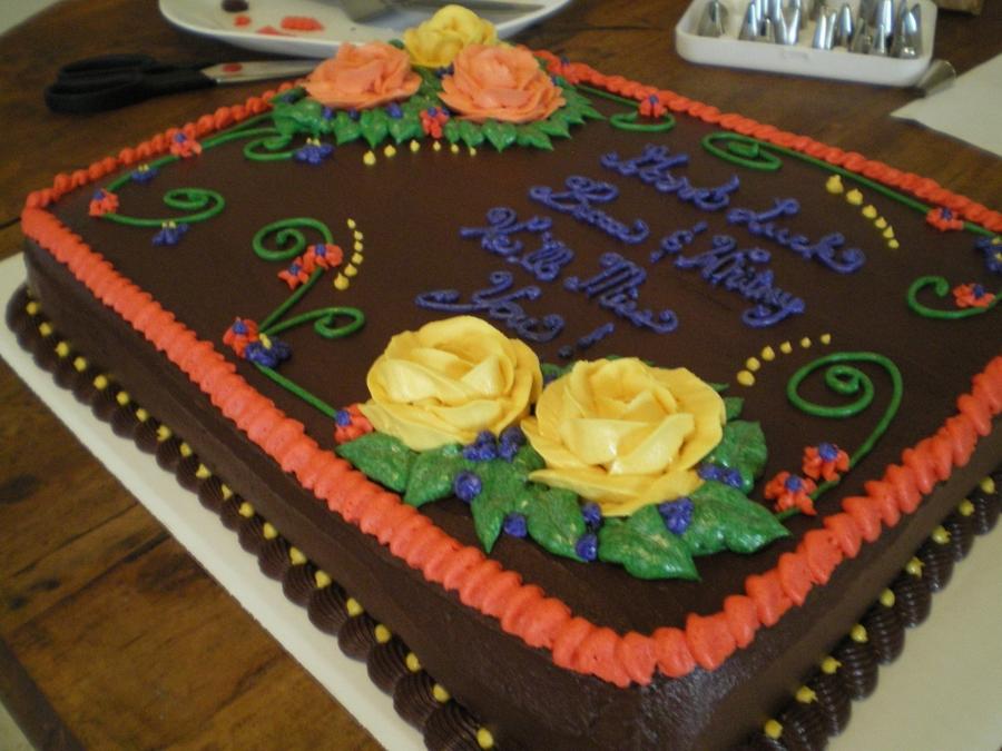 Farewell Cake - CakeCentral.com
