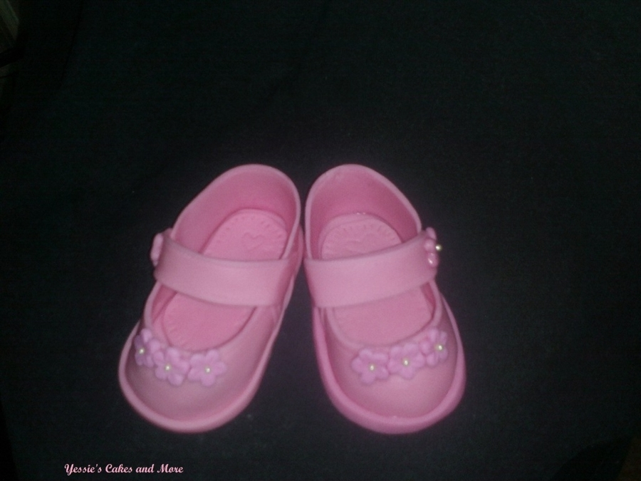 Baby Shoe Topper on Cake Central