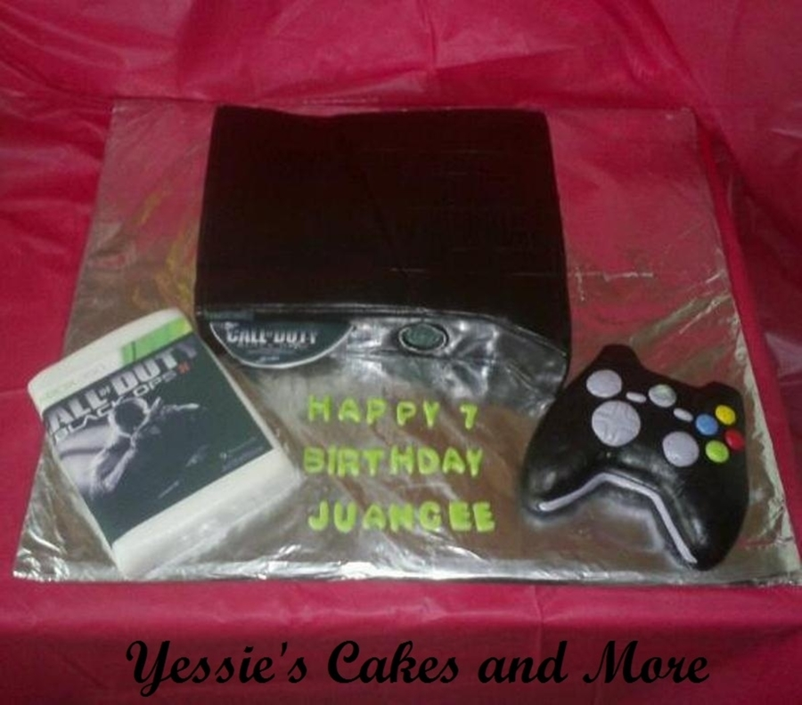 Xbox 360 W Remote And Came on Cake Central