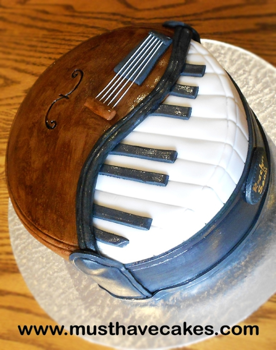 Birthday Cake With Musical Instruments