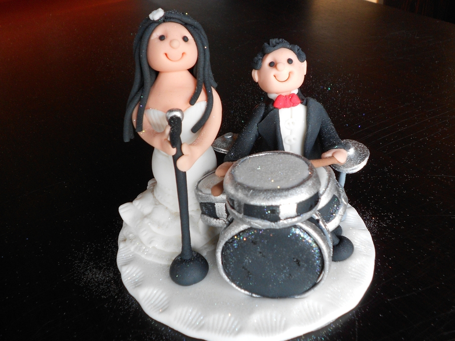 drummer wedding cake topper wedding drummer cake topper cakecentral 13755