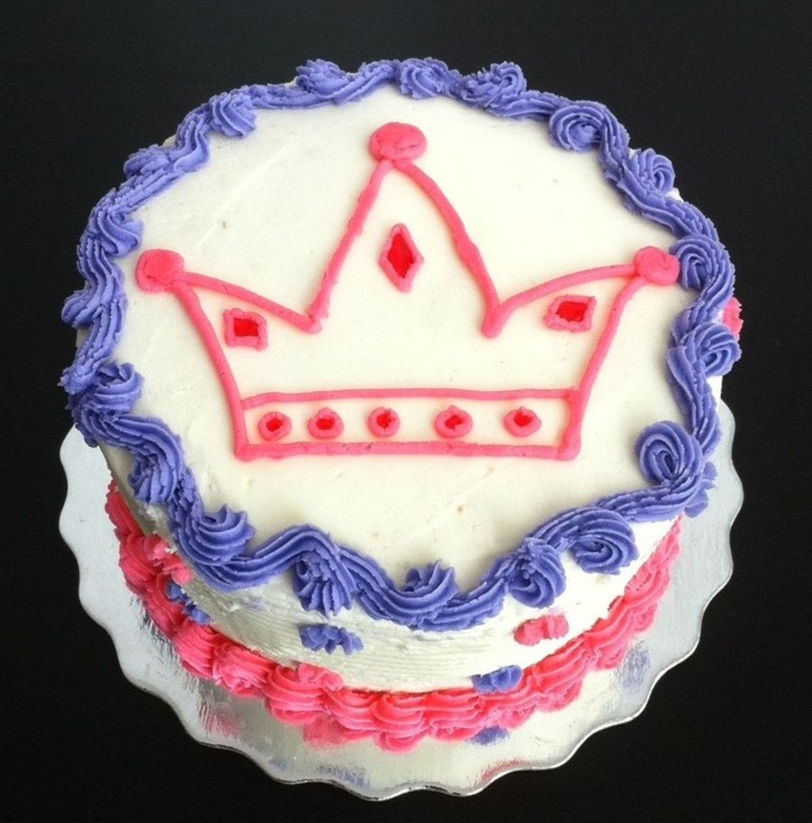 Simple Crown Cake on Cake Central