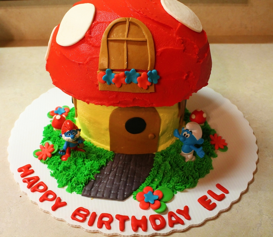 Smurf House Cake on Cake Central