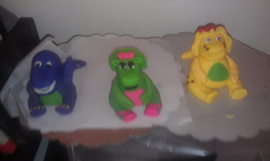 Barney Figurines For Birthday Cake on Cake Central