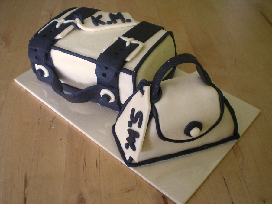 Suitcase And Handbag on Cake Central