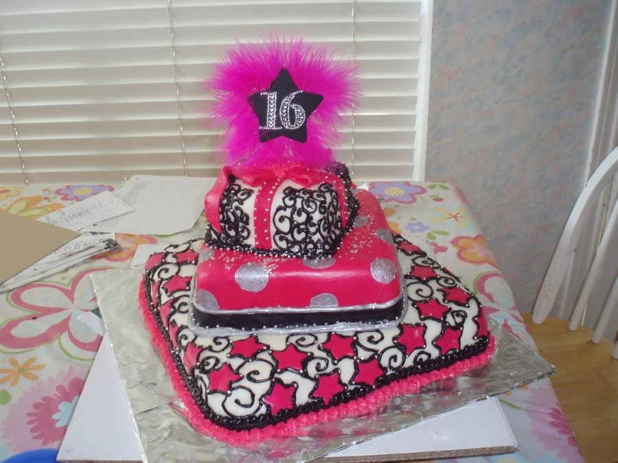 Sweet Sixteen Cake on Cake Central