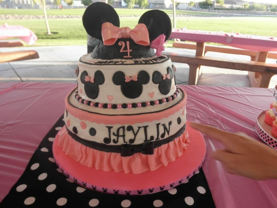 Disney Minnie Mouse Themed Birthday Cake on Cake Central