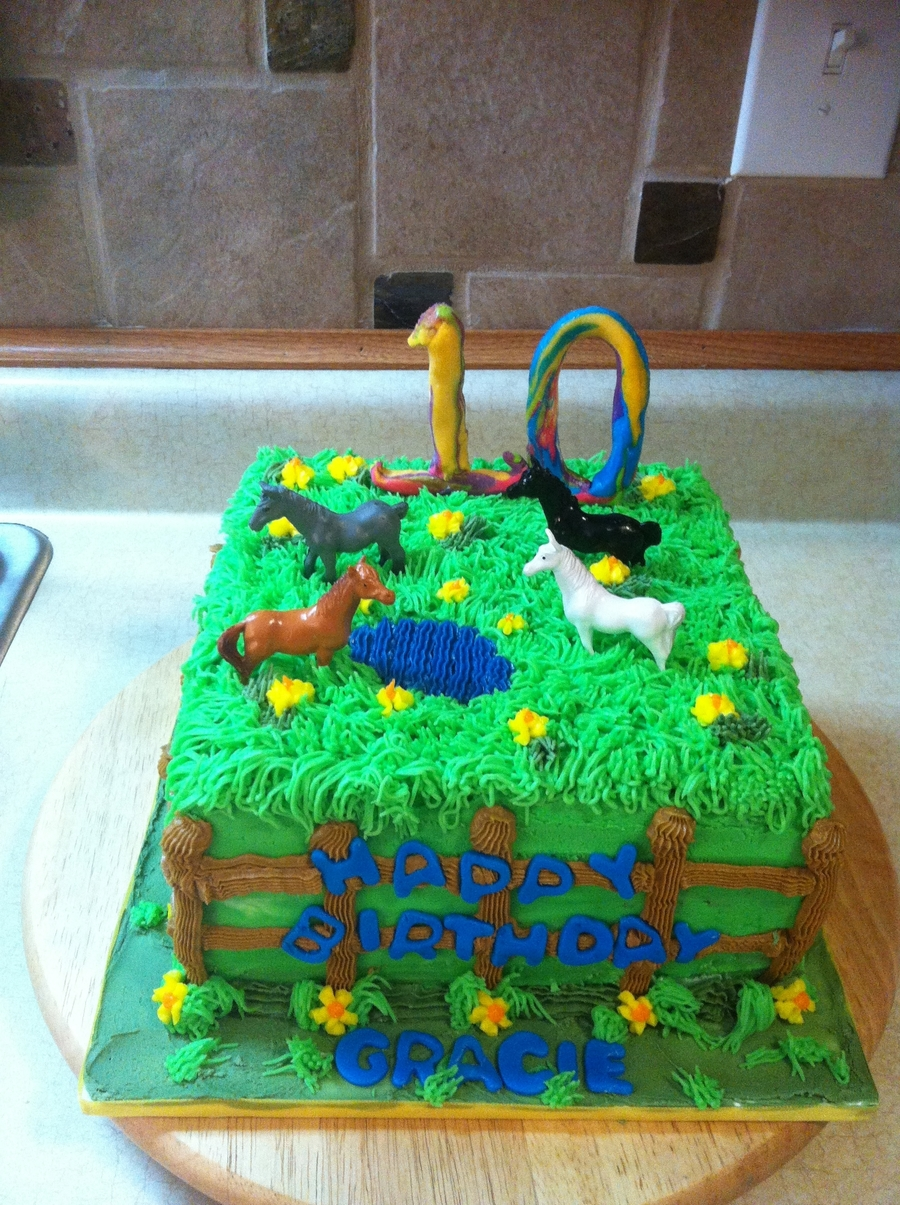Horse Pasture on Cake Central