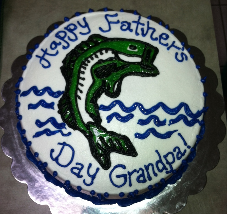 Father's Day Bass Cake on Cake Central