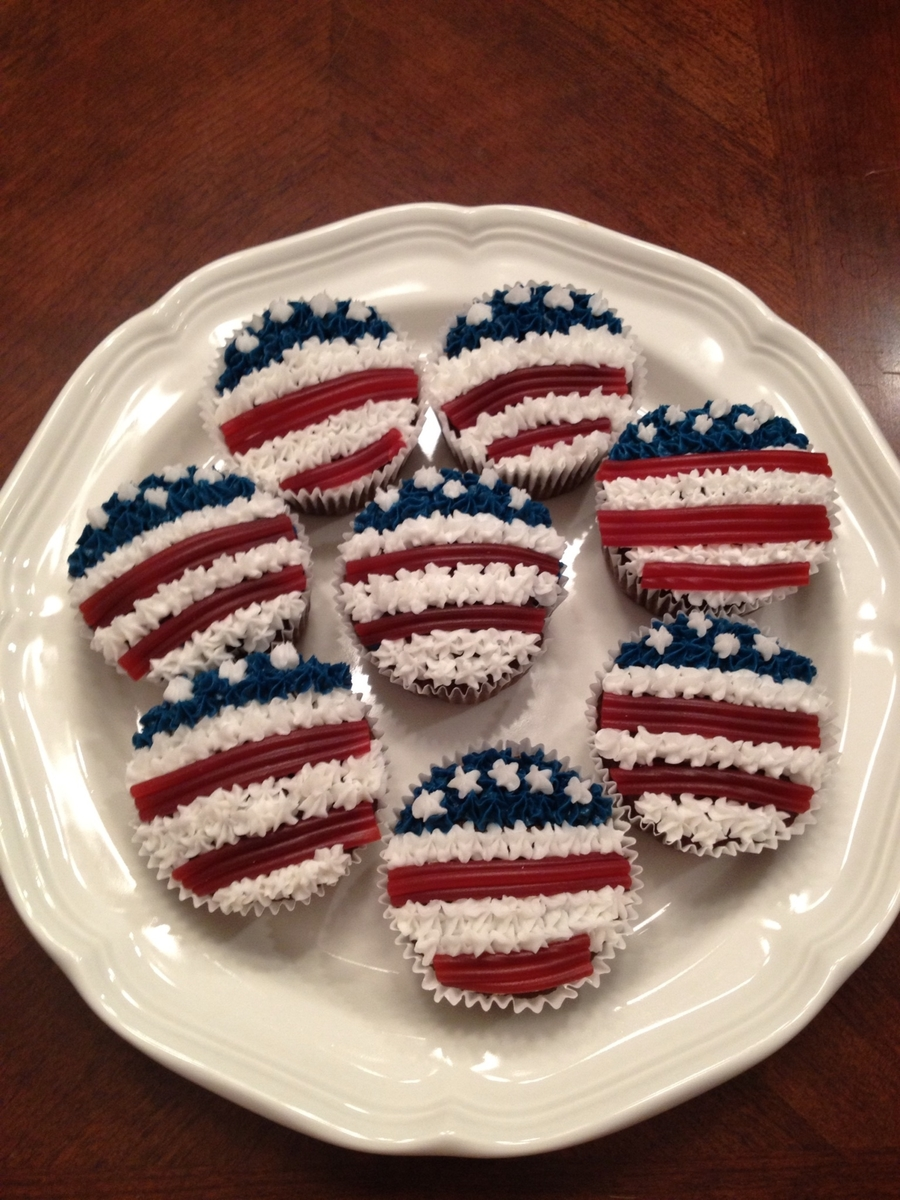 Flag Cupcakes For 4Th Of July on Cake Central