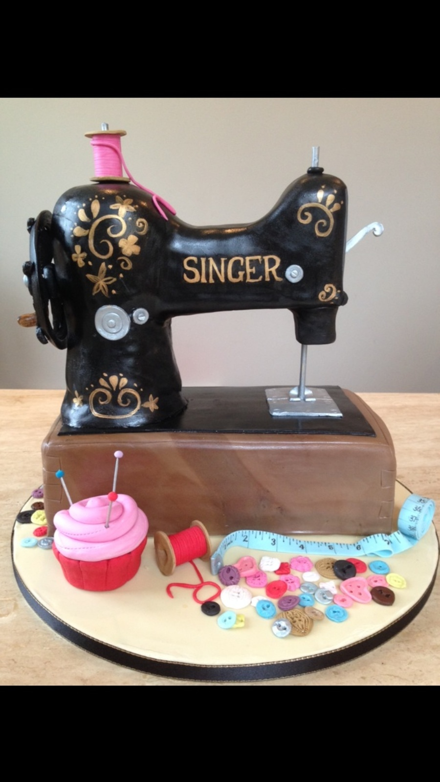 Singer Sewing Machine Birthday Cake Cakecentral Com