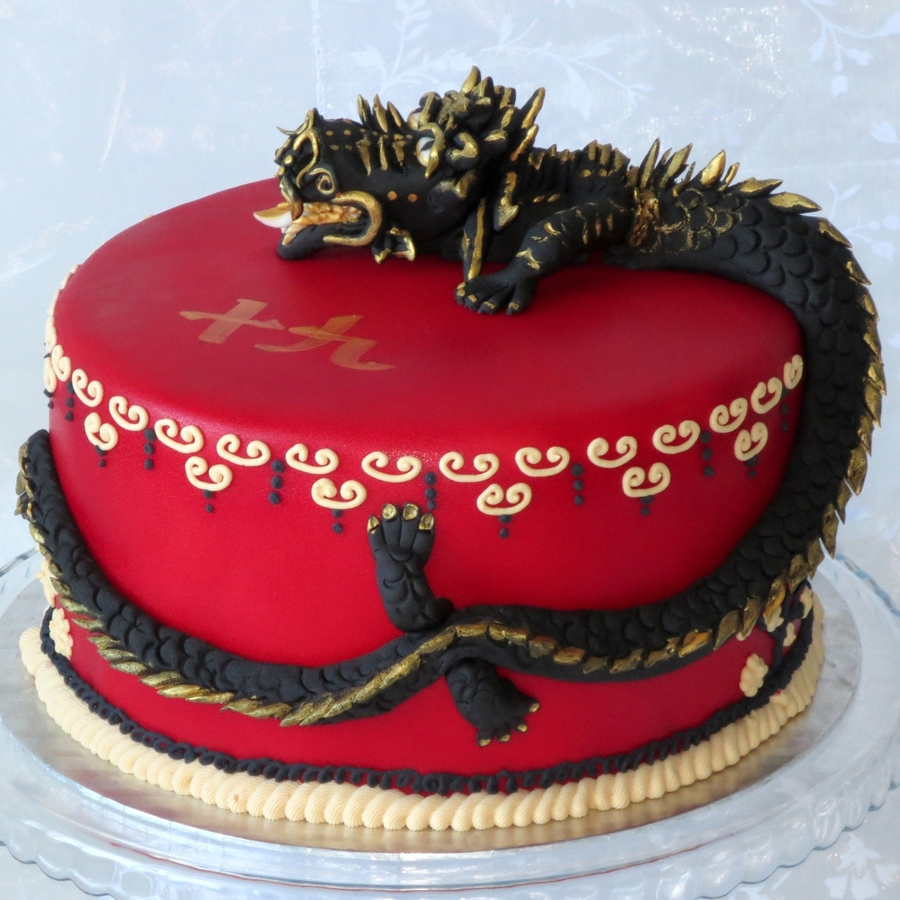 Chinese Dragon Birthday Cake Cakecentral