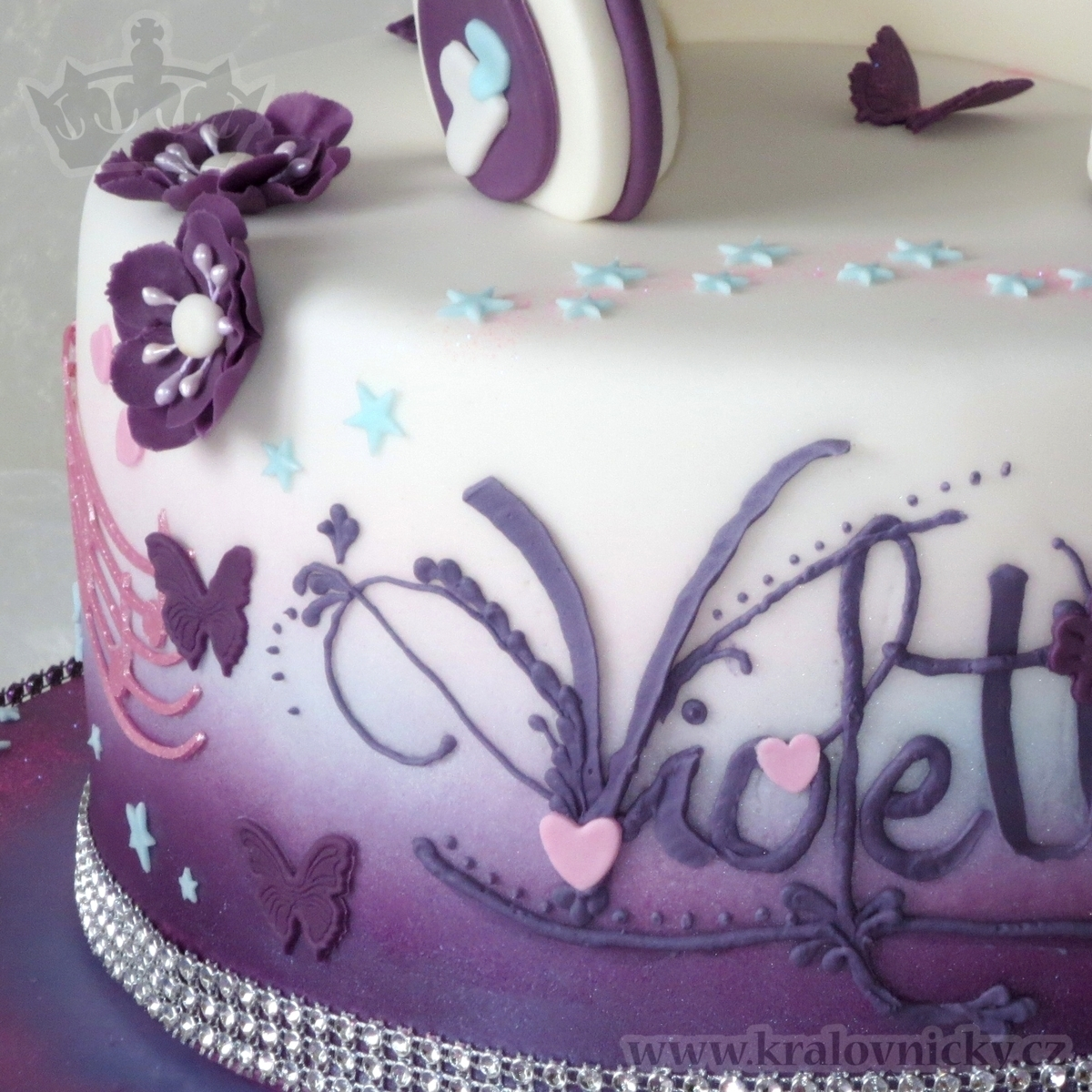 Birthday Cake For Young Girl Who Loves Violetta Serie Fondant Covered Colored By Airbrush And Decorated With Royal Icing