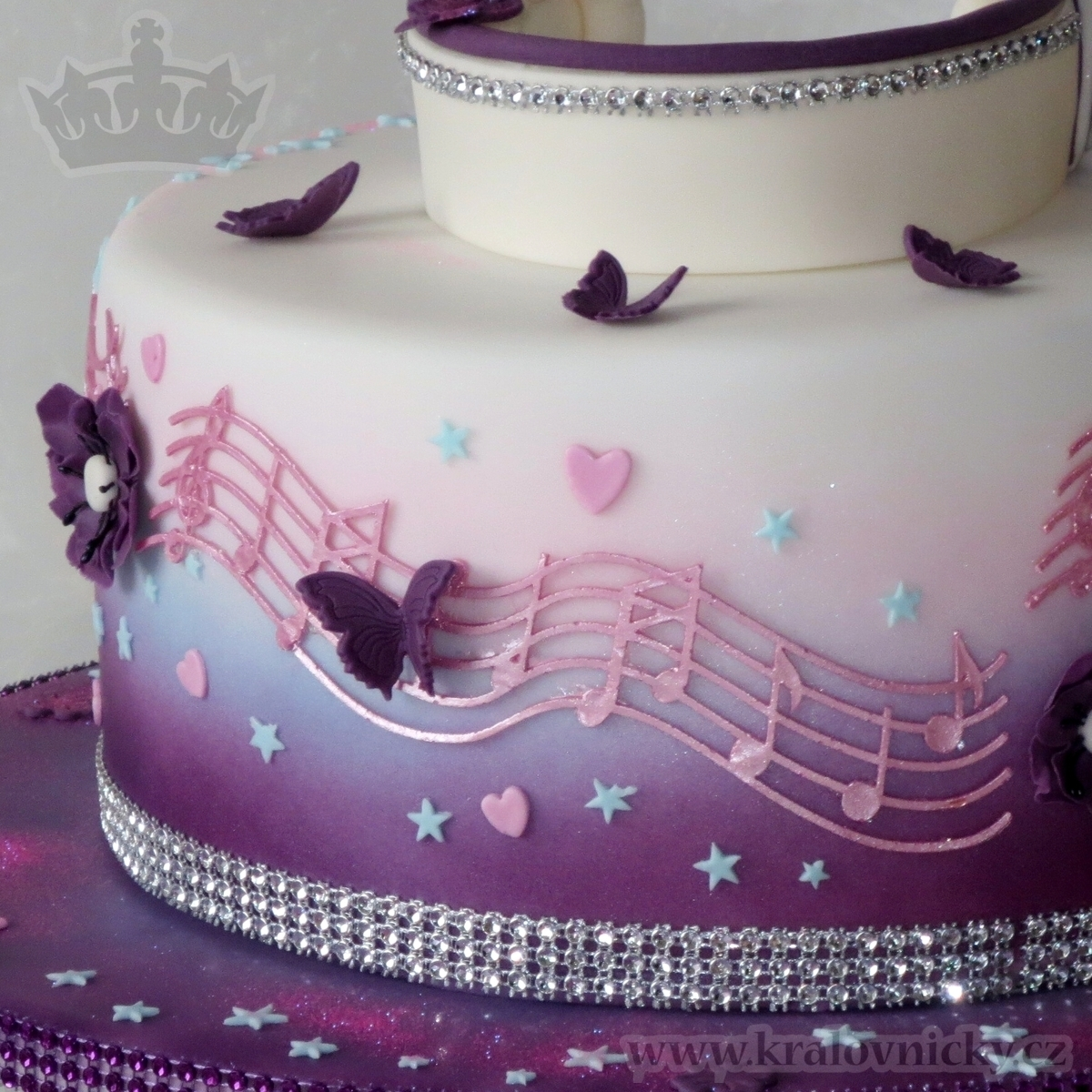 Birthday Cake For Young Girl Who Loves Violetta Serie Fondant Covered Colored By Airbrush And Decorated
