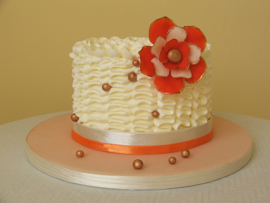 Orange Flower Cake on Cake Central