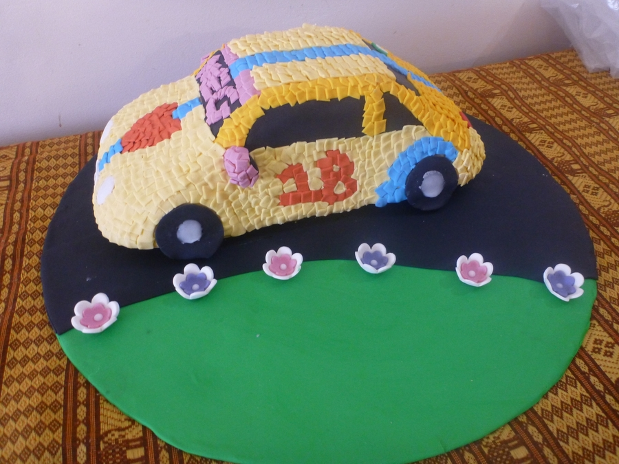Post It Note Car on Cake Central