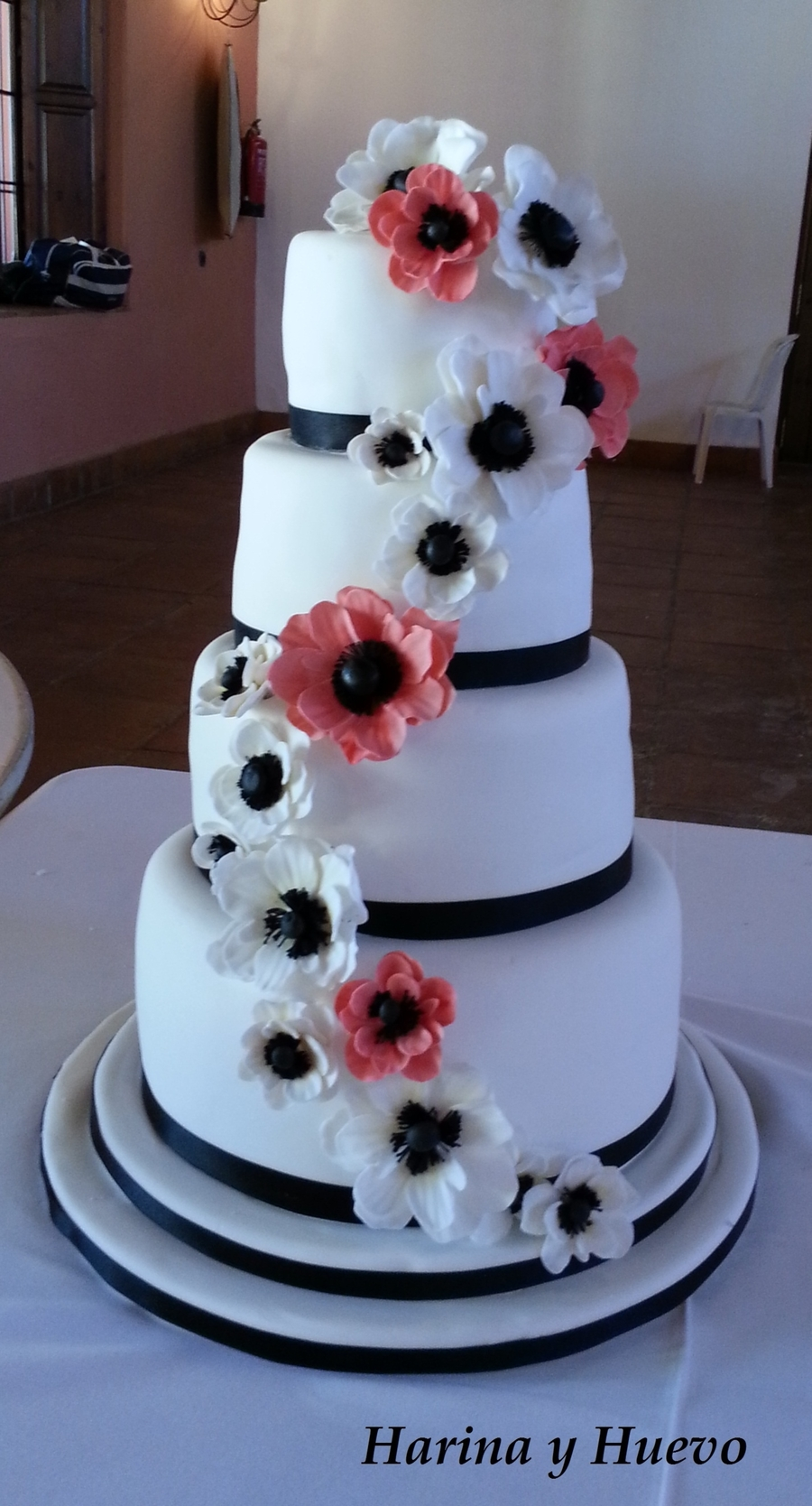 Anemone Wedding Cake on Cake Central