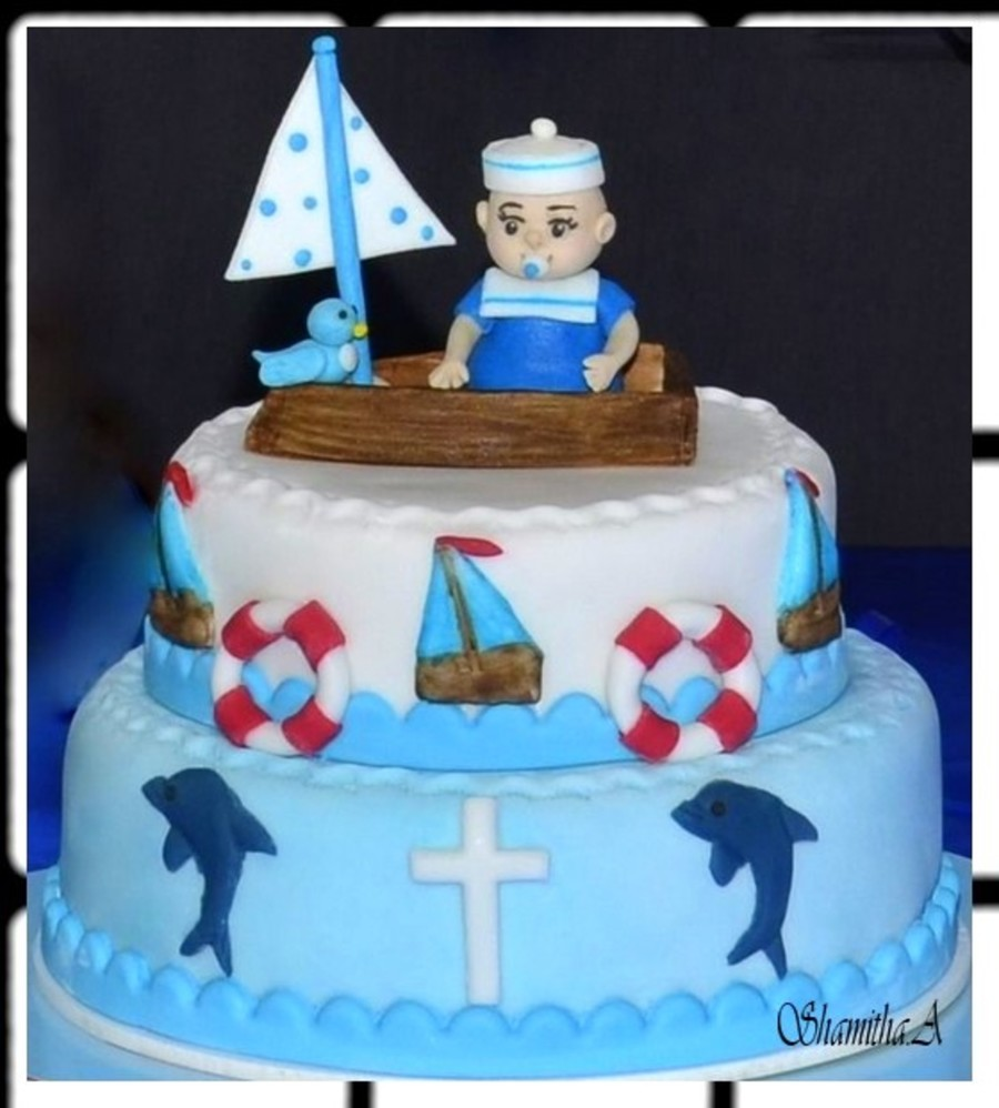 Andrew 's Baptism Cake on Cake Central