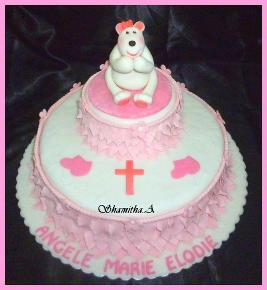 Elodie's Christening Cake on Cake Central