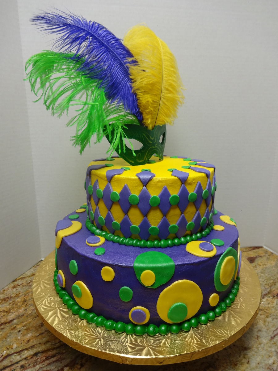 Knights of adonis mid year mardi gras bash for Abc cake decoration