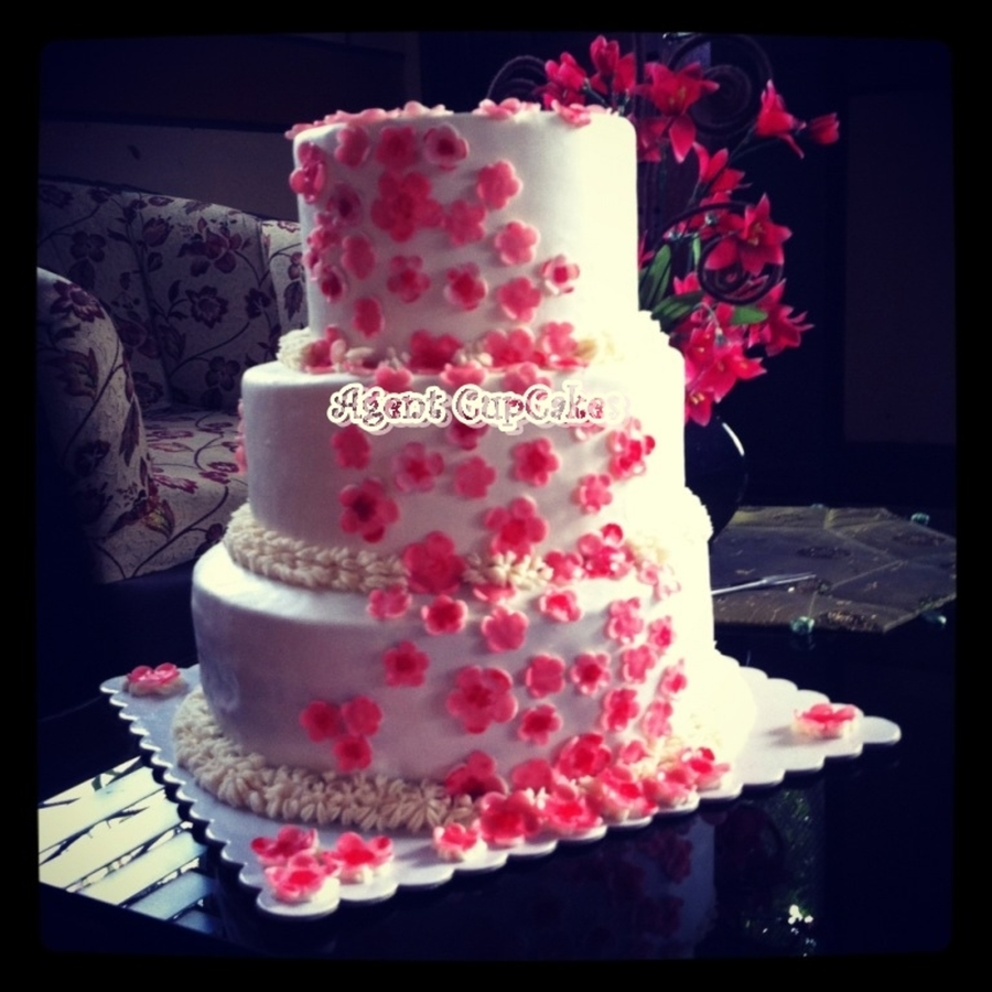 Cake Design For Debut : Cherry Blossom Wedding/debut Cake - CakeCentral.com