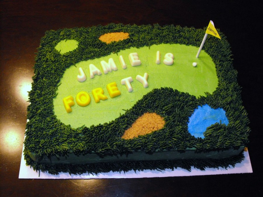 9X13 Golf Cake on Cake Central