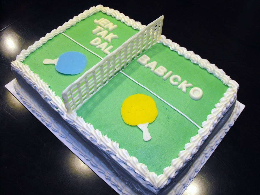 9x13 Table Tennis Ping Pong Table Cake I Made The Net And